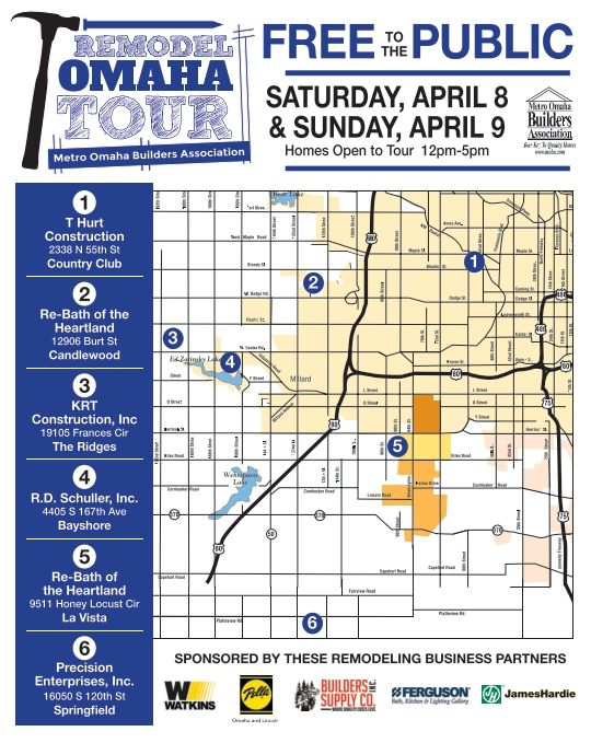 Remodel Omaha Tour. March, 2018. Omaha Home Show